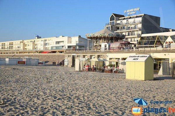 Restaurant sur la plage de Berck