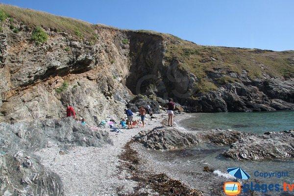 Photo de la plage de Domois à Belle Ile en Mer