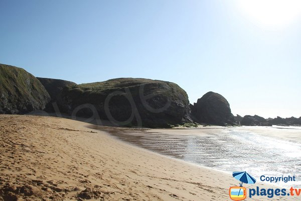 Donnant beach in the afternoon - Belle Ile