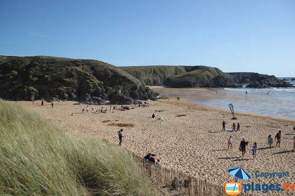 Photo of Donnant beach in Belle Ile en Mer in France