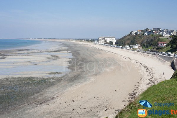 Donville beach in France