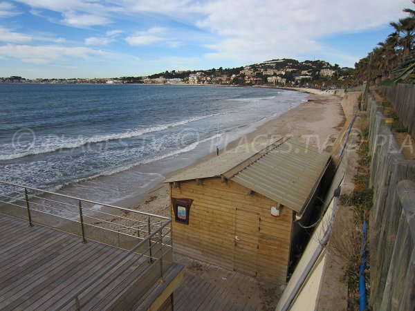 Spiggia e ristorante di Sanary sur Mer