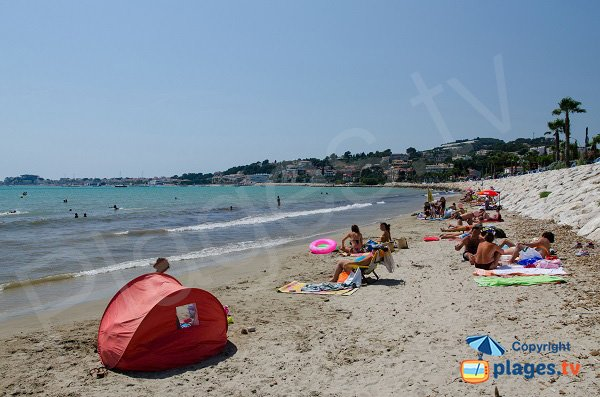 Bandol view from first beach of  Sanary