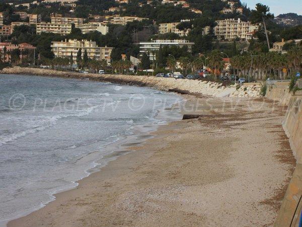 Spiaggia Dorata di Sanary sur Mer in inverno
