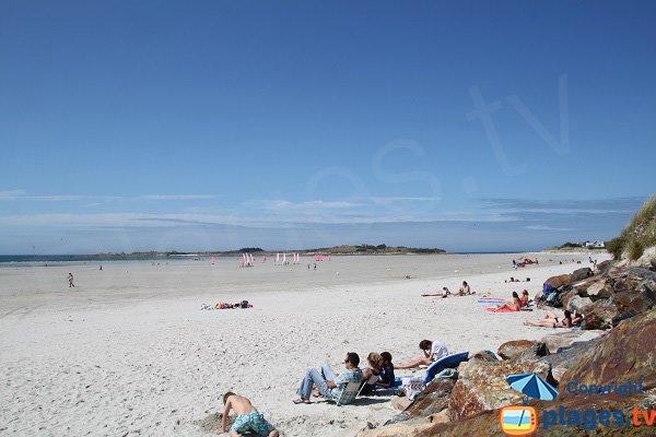 Photo de la plage du Dossen à Santec