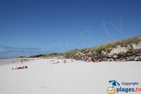 Photo of Dossen beach in Santec - Brittany