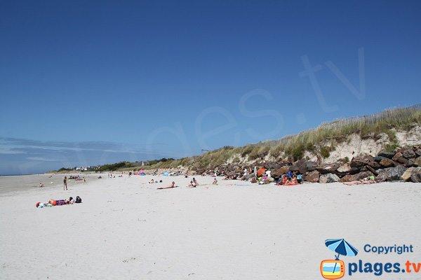 Photo de la plage du Dossen de Santec - Bretagne