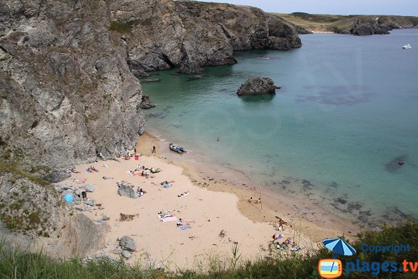 Dotchot beach in Belle Ile en Mer - Naturist beach