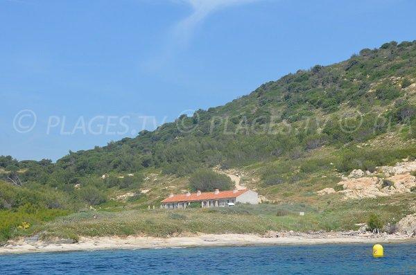 Maison de la Douane avec sa plage à Ramatuelle