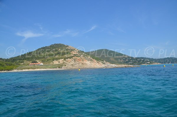 Douane beach in Ramatuelle from the sea