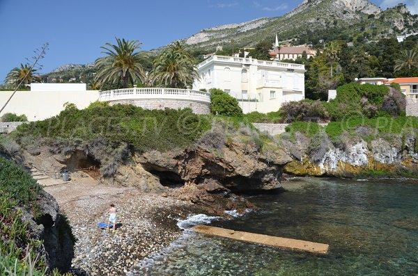 Strand Douaniers in Cap d'Ail in Frankreich