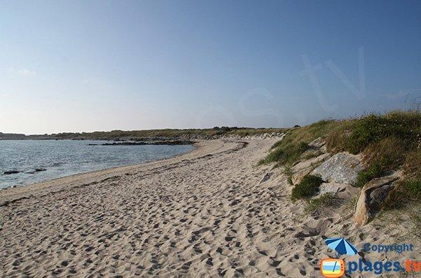 Photo de la plage du Dourlin sur l'Ile Grande (Pleumeur Bodou)