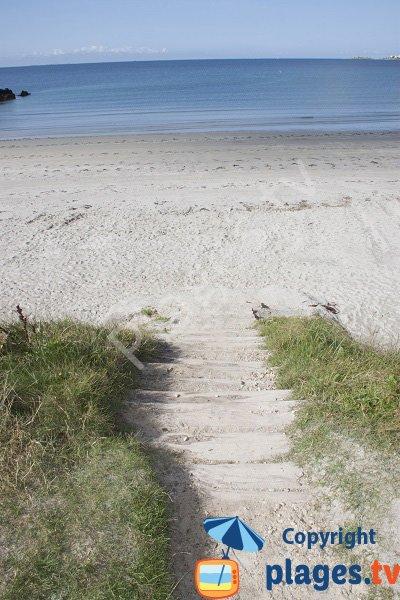 Accès à la plage de Dourveil - Névez