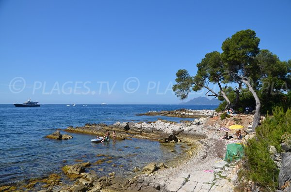 Pebble cove on the island of Lérins - Pointe du Dragon