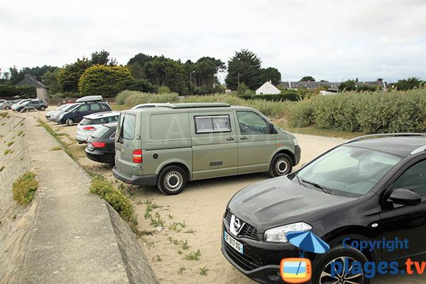 Parking de la plage du Bil