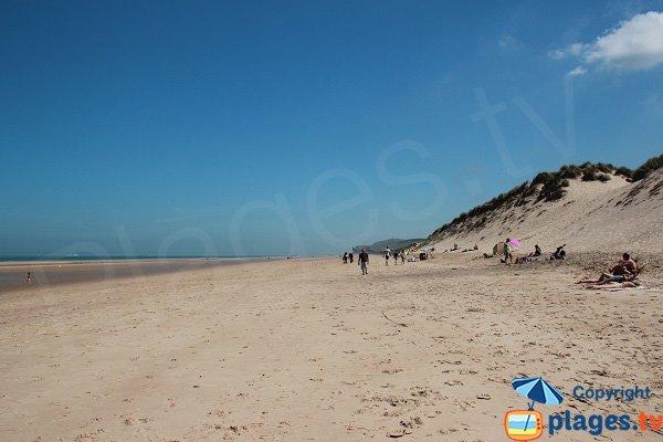 Spiaggia a nord di Wissant