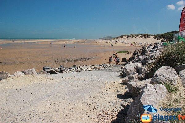 L'accesso alla spiaggia di Wissant