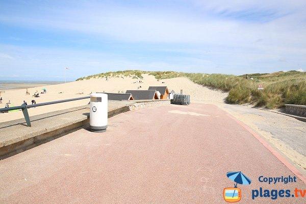 Accès à la plage des Dunes du Touquet