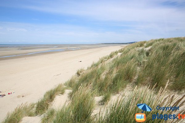 Dunes beach in Le Touquet - France