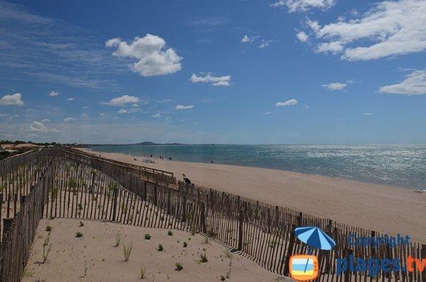 Dune de la plage de Vias à proximité de Portiragnes