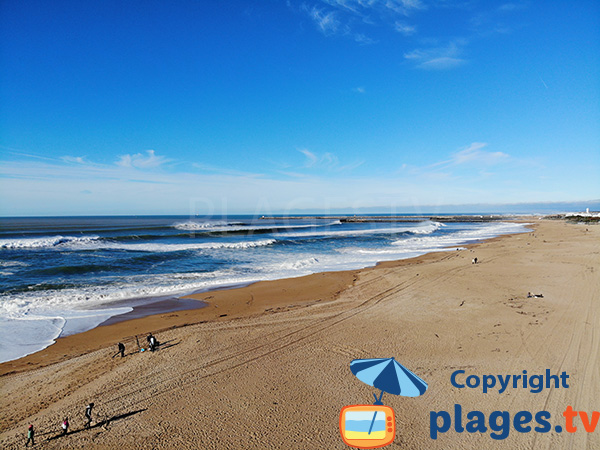Océan au niveau de la plage des Dunes - Anglet