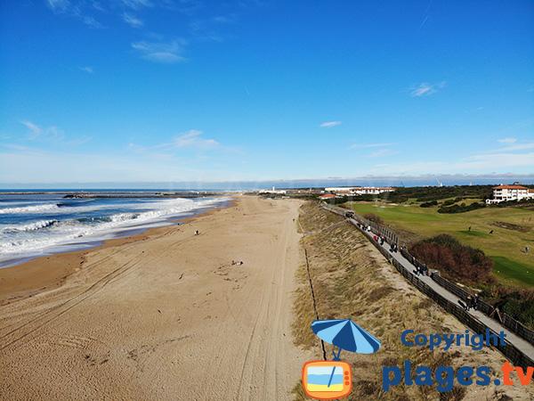 Photo de la plage des Dunes à Anglet