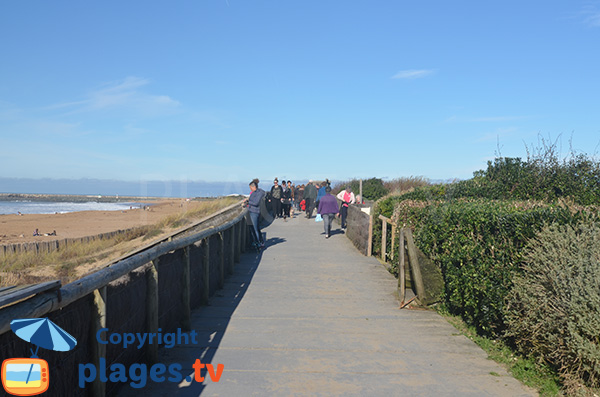 Promenade along Dunes beach in Anglet