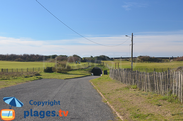 Access to Dunes beach in Anglet