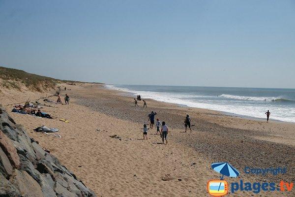 Plage des Dunes en direction du Sud - Vendée