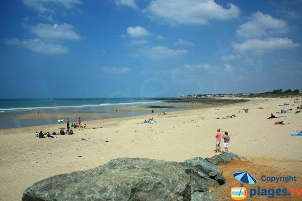 North of Dunes beach in Brétignolles-sur-Mer