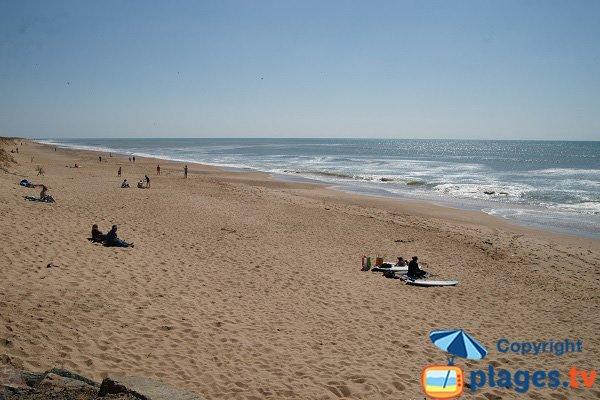 Dunes beach in Brétignolles sur Mer - France