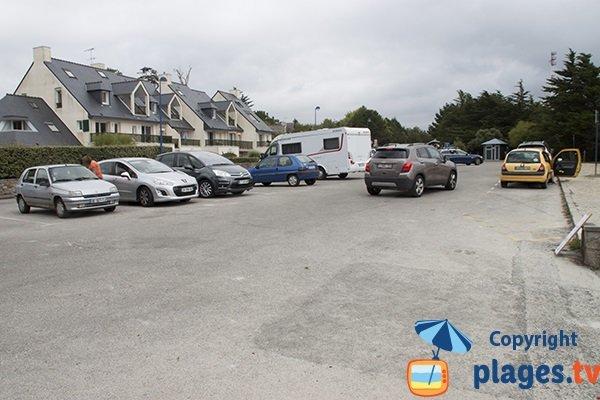 Parking de la plage des Dunes à Fouesnant