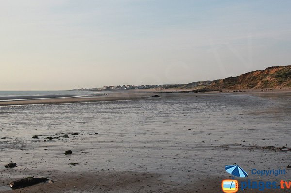 Plage des Dunes du Slack à marée descendante