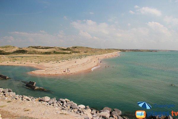 Plage des Dunes du Slack vue depuis Ambleteuse