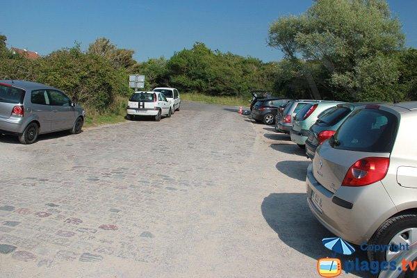 Parking des dunes du slack côté Ambleteuse