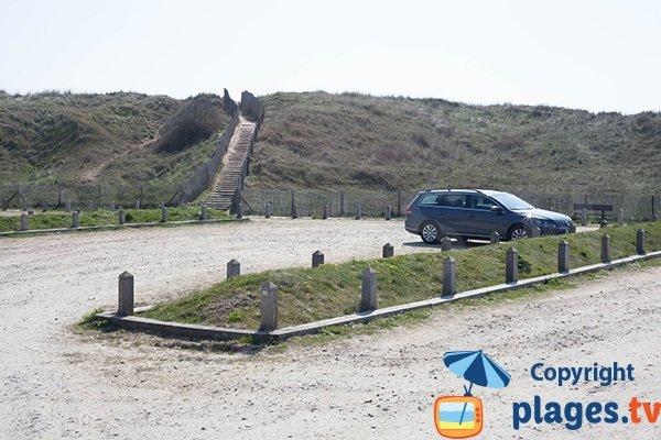 Parking et dune de la plage de St Georges de la Rivière