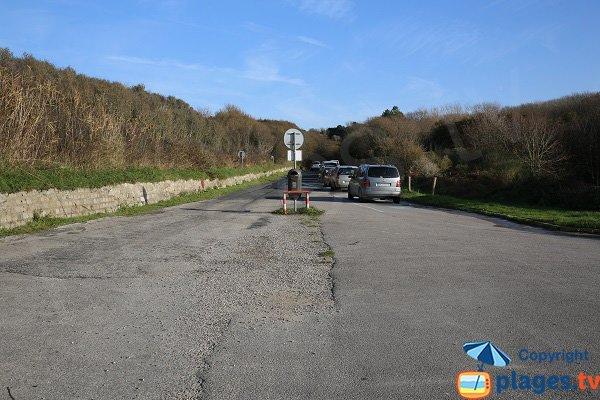 Parking de la plage d'Ecault - St Etienne au Mont