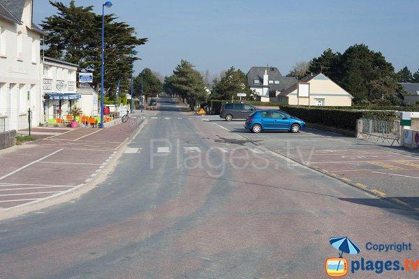 Parking de la plage surveillée d'Hauteville sur Mer