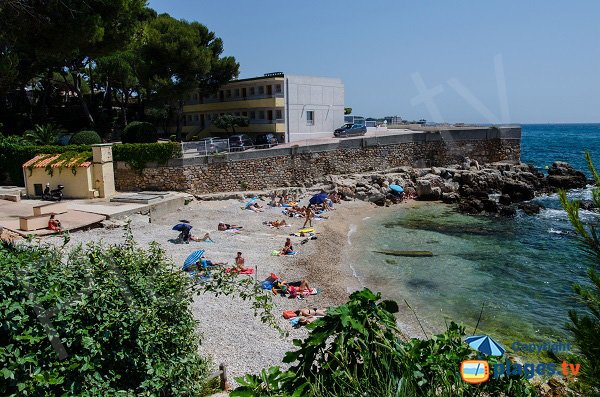 Photo of the Eden Roc beach in Bandol