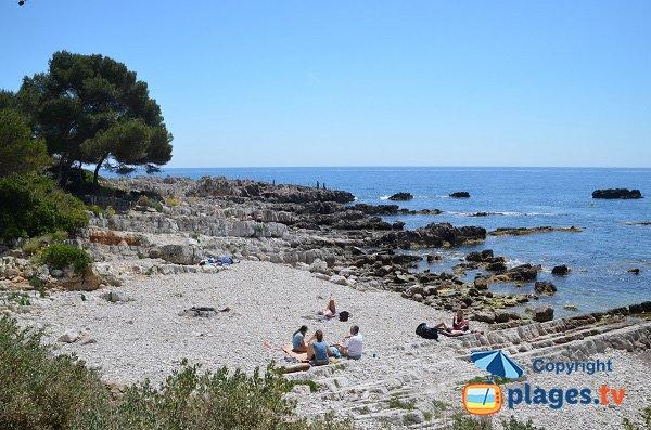 Eilen Roc beach in Cap d'Antibes in France