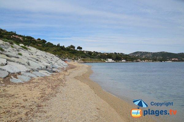 Sand beach of Elephant in Sainte Maxime