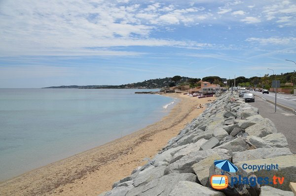 Elephant beach in Ste Maxime in France