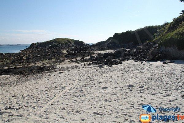 Partie ouest de la plage d'Enez Aod Kun - Batz