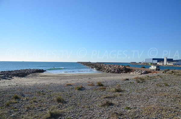 Photo of Entree beach in Frontignan in France