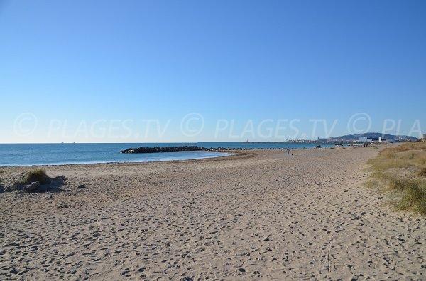 Frontignan beach near Foulques street