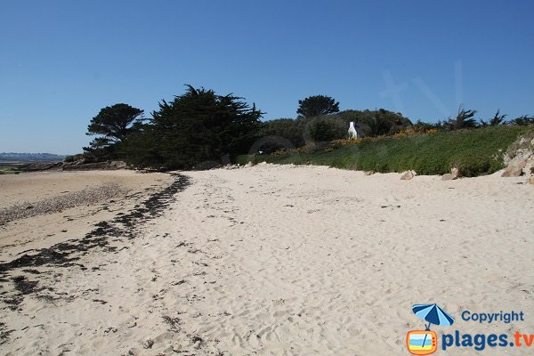 Photo de la plage de l'entrée de l'ile de Callot