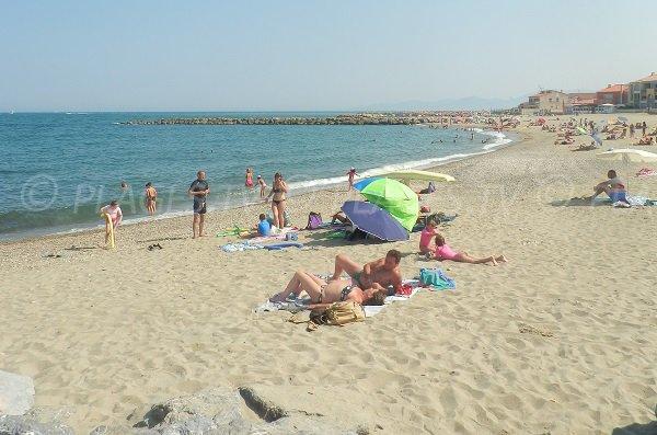 Spiaggia Epis di Sainte-Marie in estate - Francia