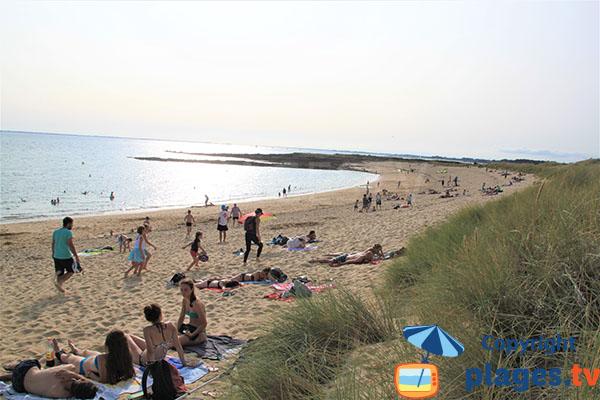 Longue plage agréable de sable