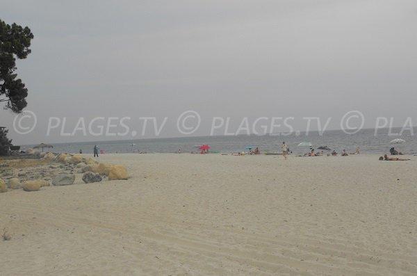 Plage de sable d'Erba Ross à Ghisonaccia