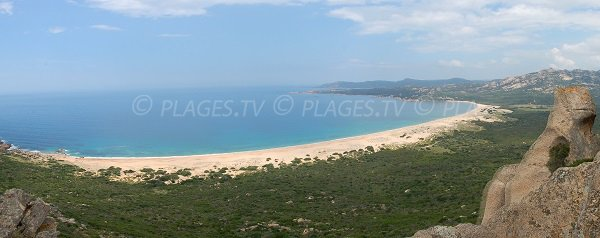 Photo de la plage d'Erbaju dans le golfe de Roccapina